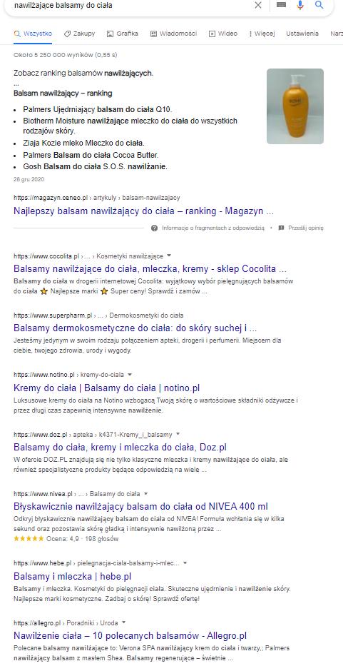 zapytanie w google