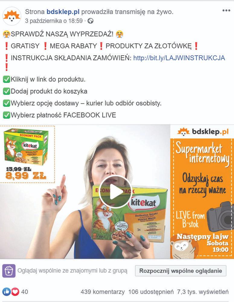 Lajwy sprzedażowe bdsklep.pl