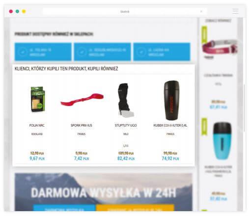 Rekomendacja produktó kupionych przez innych klientów - Narzędzia, które zwiększą konwersję w Twoim sklepie internetowym – szczęśliwa 7